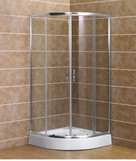 China Cheap Price Clear Tempered Glass Shower Tray Shower Enclosure ...