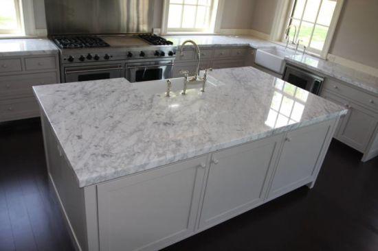 Hot Italian Bianco Venato Statuario Carrara Oriental White Marble Kitchen Countertop