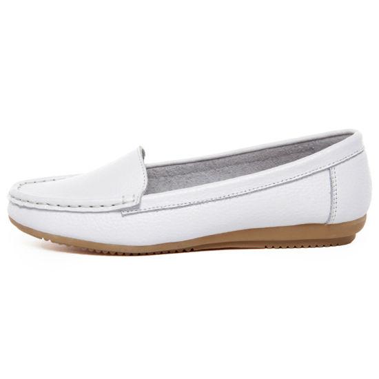China Wholesale Comfortable Cheap Hospital Leather Nurse Shoes