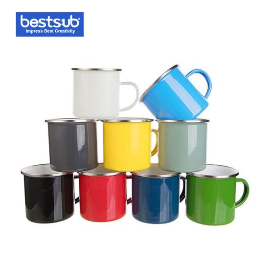 Bestsub Sublimation Blank 12oz Enamel Cup Tea Coffee Mug (TC03N)