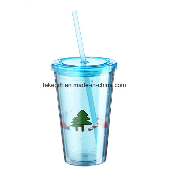 China Hot Sale Wholesale Double Walled Christmas Acrylic