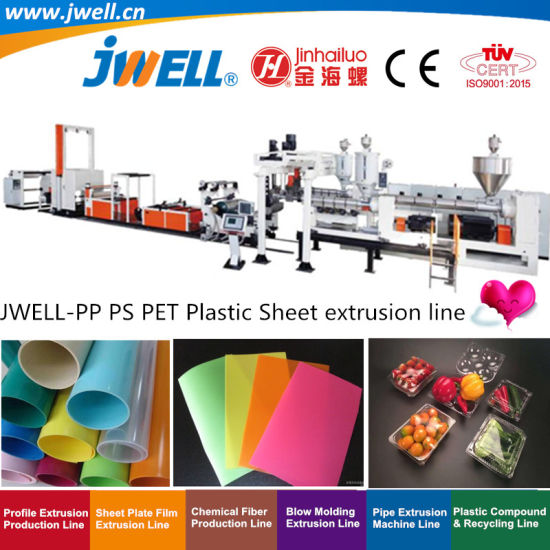 Jwell-PP|PS|Pet Plastic Sheet Recycling Making Extrusion Machine for Food Package|Electric Package|Plastic Containers Field