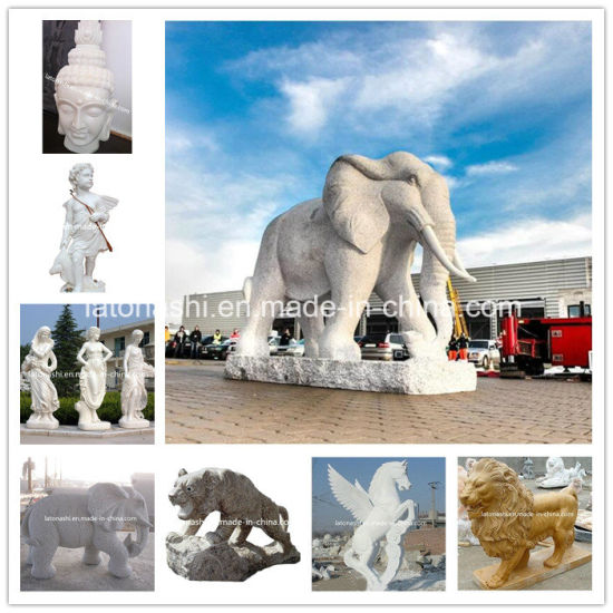 Large Outdoor/Three Graces/Religious/Angel/Flying Horse/Lion Carving/Elephant/White Marble/Granite/Stone Craft/Sculpture for Home/Garden Decoration/Gift