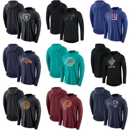 2019 Redskins Steelers Raiders Giants Dolphins Rams Blend Performance Hoodies