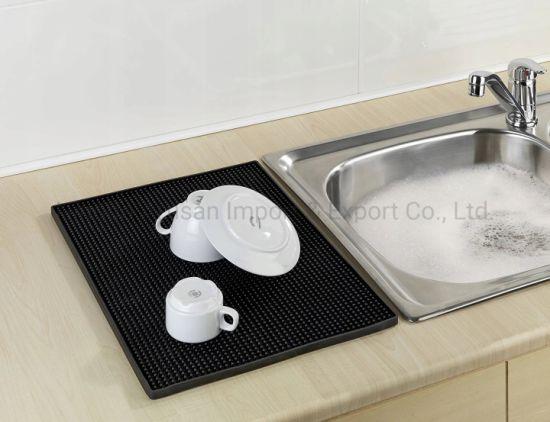 Mat for Drying Dishes PVC Bar Mat Dish Drying Mat