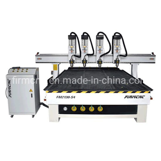 4 Heads Wood Stair CNC Router Machine Wood Engraving Cutting for Door Making