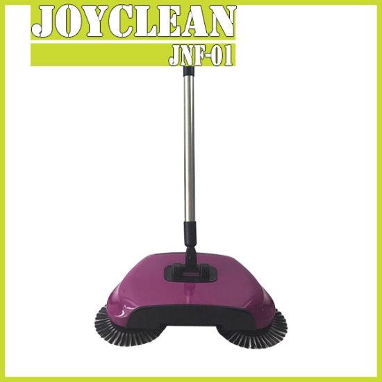 Hand Push Floor Sweeper Machine, Magic Hand-Propelled Broom Sweeper