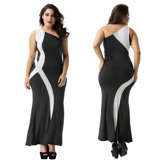 Wholesale Black Flower Lace Long Women Prom Fashion Party Dress