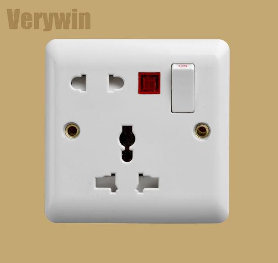 Wall Socket UK Standard Switch Socket Electric Switch F417