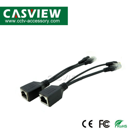 Poe Cable for IP Camera, 1pair (POE Splitter+POE Injector) , Supply Power 3-48V/1A, RJ45 Connection pictures & photos