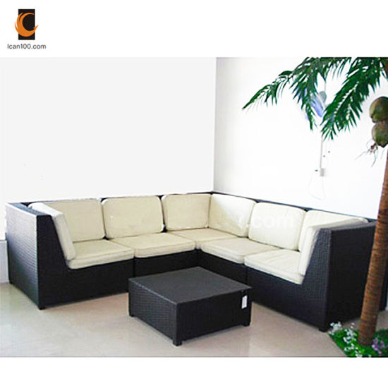 Eco-Friendly Material Salon De Jardin Outdoor Rattan Furniture Sofa  (WS-06040)
