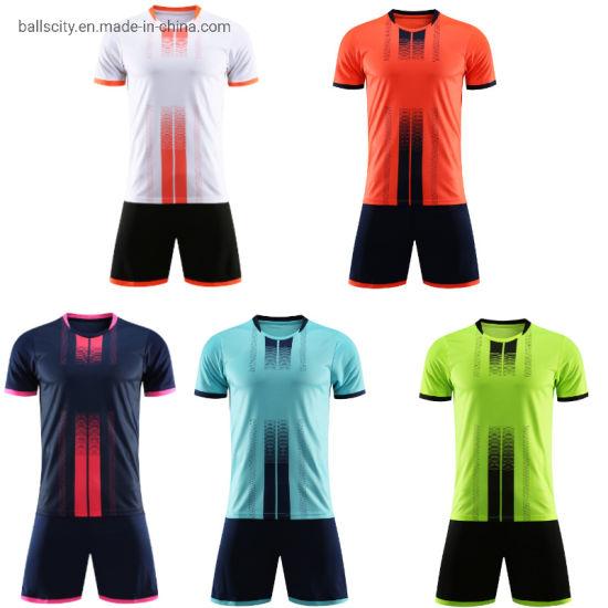 Wholesale Custom Sublimation Printing Polyester Mesh Unisex Soccer Jerseys