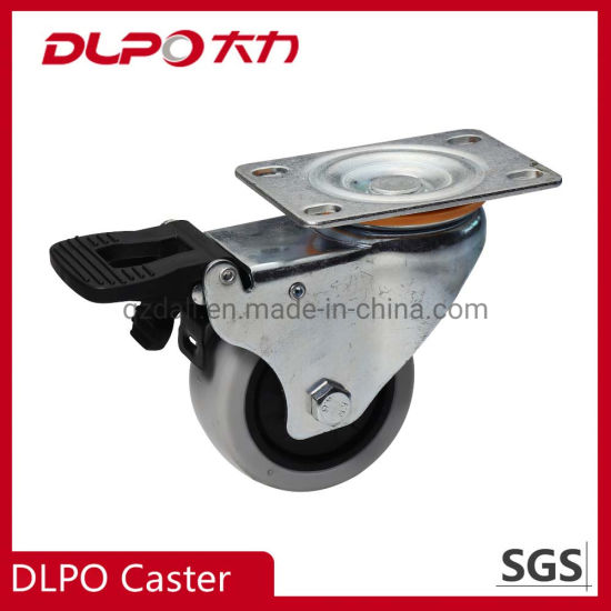 Cart PU Swivel with Brake Caster for Machine