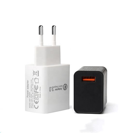 European Plug Quick Charge QC3.0 Wall Charger for Mobile Phone