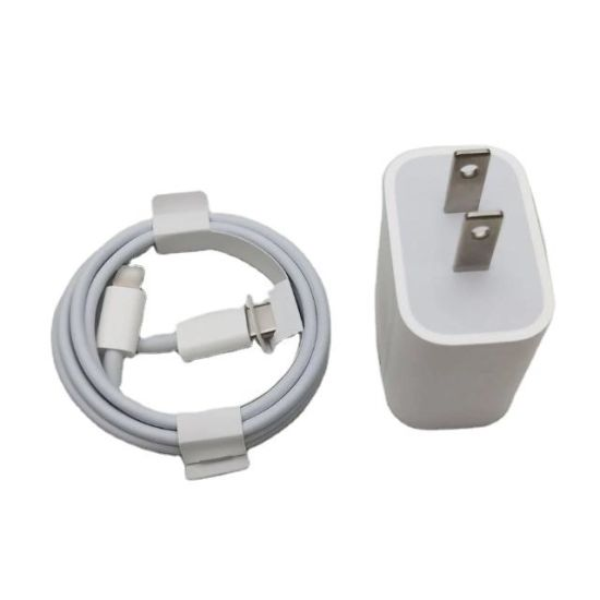 20W Power Adapter Super Fast Charging Data Cable USB- C to 8 Pin Cables for iPhone