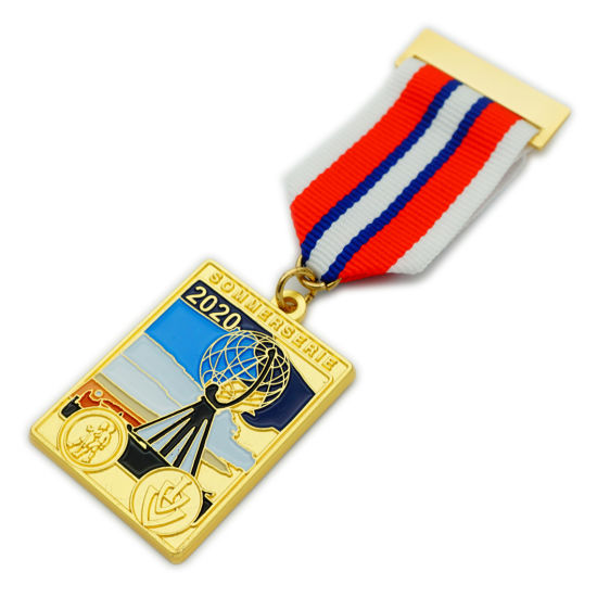 BSCI Factory Wholesale Metal Enamel Award Medal/Metal Medallion/Customized Insignia/Gold Sport Military Fashion Souvenir Medal (FTMC2009)