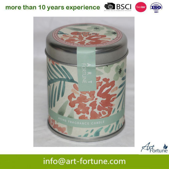 Travel Tin Candle with Color Label for Home Decor