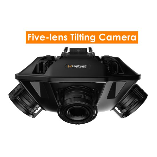 3D Mapping Five-Lens Tilting Camera with High Pixels and Resolution Rescuetech