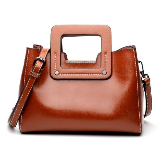 Europe Style Fashion Genuine Leather Lady Handbag