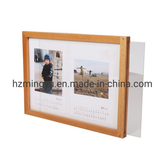 Acrylic and Wooden Shadow Box Photo Picture Frame for Wall Decoration