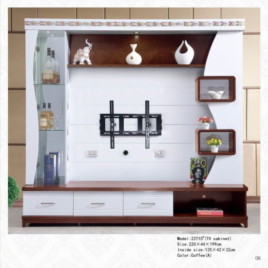 Modern Appearance Living Room Furniture and Home Furniture Universal Use Wooden TV Cabinet Glass TV Stand for Sale