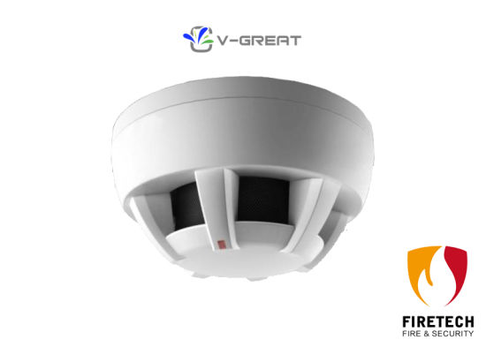 China Conventional Fire Alarm System Photoelectric Smoke Detector