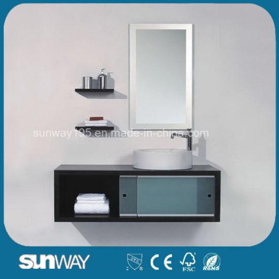 2017 Glossy Wall Hung Bathroom Vanity Cabinet Sw-Wd0004W