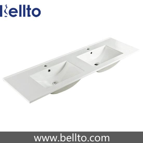 1500mm Double Bowl Thin Edge Vanity Sink for Bathroom (9150ED)