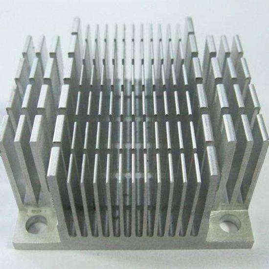 Square Dense Teeth Aluminium Profile Heat Sink for Inverter