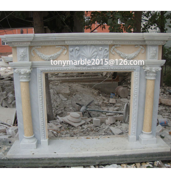 Surface Polished Marble Fireplace for Indoor Decoration (SY-MF010) pictures & photos
