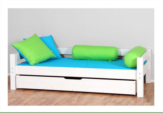 White Color Children Sofa Bed Made By Solid Wood M X1100