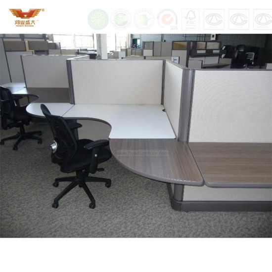 Elegant T Shape Glass Panel Top Modern Office Cubicle Workstation