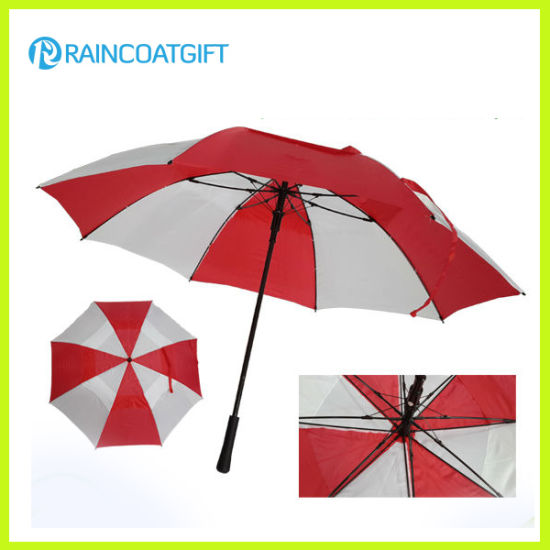 High Quality Double Layers Straight Windproof Golf Umbrella
