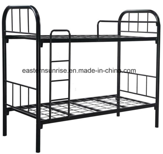 China Hot Sale Iron Steel Metal Army Bunk Beds China Iron Bed