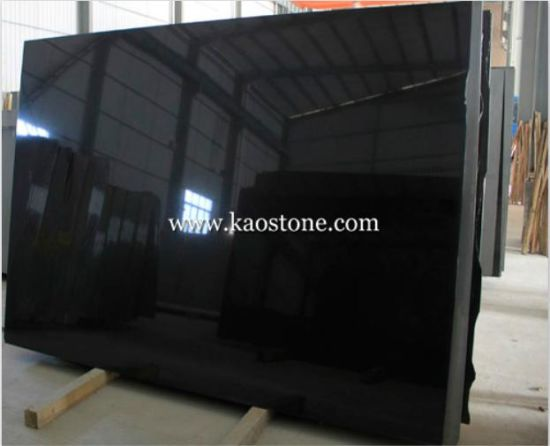 Polished/Honed/Flamed China Absolute Black/Mongolia Black Granite Slab for Countertops/Flooring/Tiles/Worktop/Table pictures & photos
