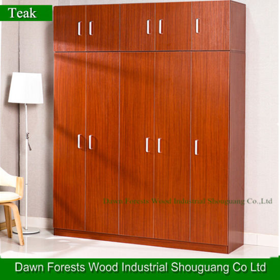 Teak Melamine Color Wardrobe Clost