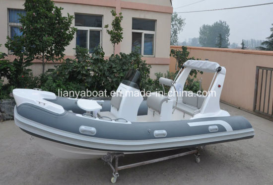 Liya 5.2m Fiberglass Inflatable Rib Luxury Yacht Made in China