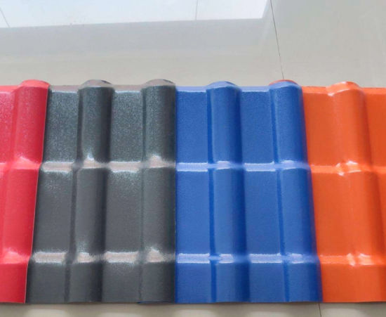 Spanish Style Royal PVC Plastic Synthetic Resin Roof Tile pictures & photos