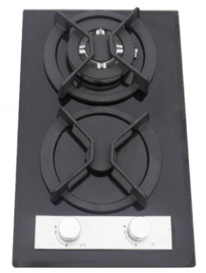 2 Burners Built in Tempered Glass Gas Hob/Gas Stove/Gas Cooktop