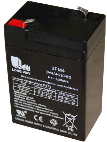 6V Alarm Power Emergency Rechargeable Sealed VRLA Battery