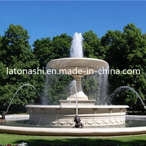 White Marble Stone Carved Water Garden / Backyard Fountains with SGS pictures & photos