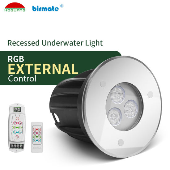 3W Remote RGB External Control IP68 LED Underwater Lighting Swimming Pool Light
