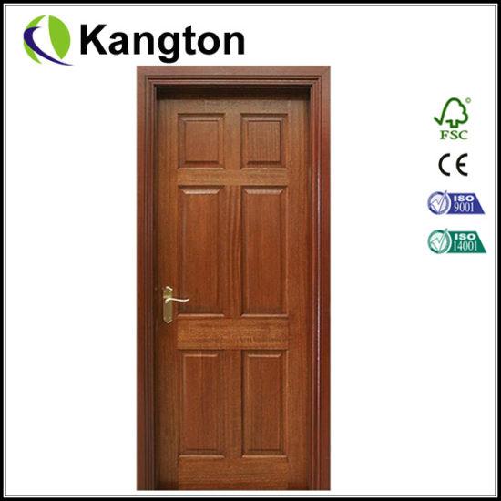 China Mahogany Wood Interior Door Wood Door China Wood Door