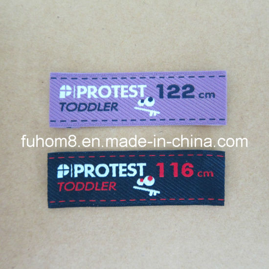 Custom Clothing Polyester Apparel Label with High Quality