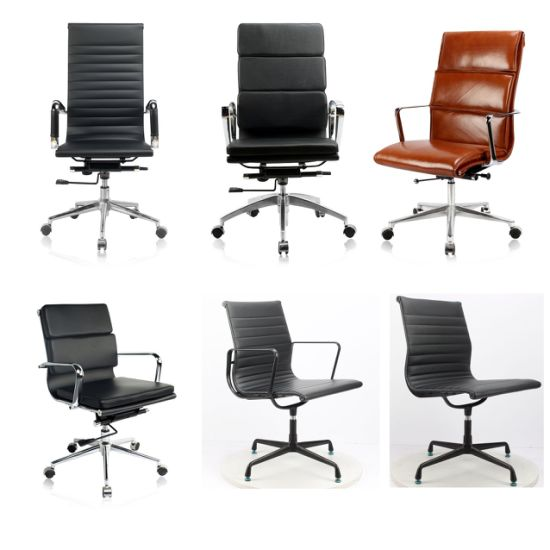Leather Modern Office Furniture Ergonomic Executive Fabric Meeting Swivel Staff Task Eames Office Chair
