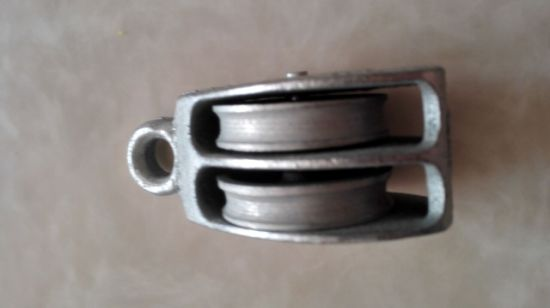 Casting Steel Double Pulley with Zinc Plated or Black Painted pictures & photos