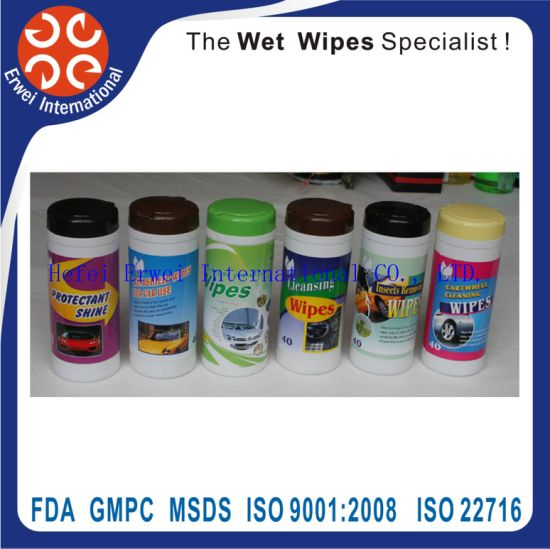 Glass Cleaner Wipes Auto Wipes pictures & photos