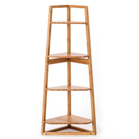Bamboo 4 Tiers Corner Shelf / Corner Rack for Household