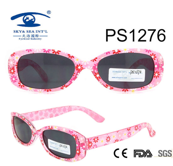 7556af1594 China Wholesale Flower Patten Colorful Kid Plastic Sunglasses (PS1276)  pictures   photos