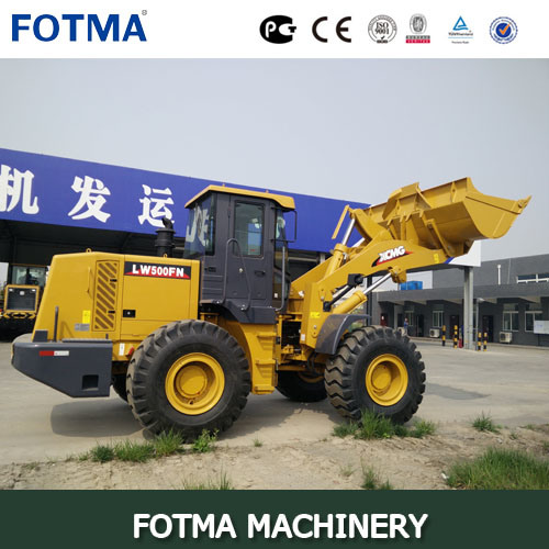 5 Ton XCMG Wheel Loader with Grab Fork pictures & photos